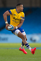 Bath Rugby's Anthony Watson in action during todays match<br /> <br /> Photographer Bob Bradford/CameraSport<br /> <br /> Gallagher Premiership Semi-Final - Exeter Chiefs v Bath Rugby - Saturday 10th October 2020 - Sandy Park - Exeter<br /> <br /> World Copyright © 2020 CameraSport. All rights reserved. 43 Linden Ave. Countesthorpe. Leicester. England. LE8 5PG - Tel: +44 (0) 116 277 4147 - admin@camerasport.com - www.camerasport.com