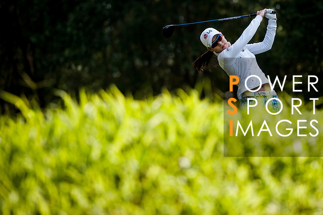 Char Young Kim of Korea in action during the Hyundai China Ladies Open 2014 at World Cup Course in Mission Hills Shenzhen on December 13 2014, in Shenzhen, China. Photo by Xaume Olleros / Power Sport Images