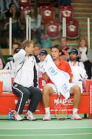 09-05-10, Tennis, Zoetermeer, Daviscup Nederland-Italie, Igor Sijsling  Paolo Lorenzi  Robin Haase  Daniele Bracciali