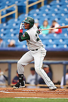 Fort Wayne TinCaps outfielder Franchy Cordero (22) at bat during a game against the Lake County Captains on May 20, 2015 at Classic Park in Eastlake, Ohio.  Lake County defeated Fort Wayne 4-3.  (Mike Janes/Four Seam Images)