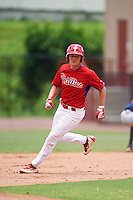GCL Phillies designated hitter Ben Pelletier (26) running the bases during a game against the GCL Braves on August 3, 2016 at the Carpenter Complex in Clearwater, Florida.  GCL Phillies defeated GCL Braves 4-3 in a rain shortened six inning game.  (Mike Janes/Four Seam Images)