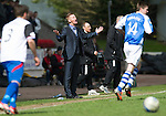 St Johnstone v Inverness Caley Thistle.....27.04.13      SPL.Steve Lomas appeals to the ref Craig Thomson.Picture by Graeme Hart..Copyright Perthshire Picture Agency.Tel: 01738 623350  Mobile: 07990 594431