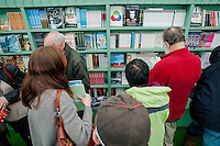 Thursday  29 May 2014, Hay on Wye, UK<br /> Pictured: People Browse the bookshop at Hay <br /> Re: The Hay Festival, Hay on Wye, Powys, Wales UK.
