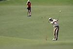 Dubai World Championship Golf. Earth Course,.Jumeirah Golf Estate, Dubai, U.A.E...Padraig Harrington playing his second on the 5th during the second round of the Dubai World Golf championship..Photo: Fran Caffrey/www.golffile.ie...