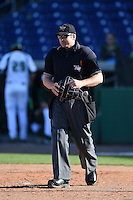 Umpire Jeff Gosney during a game between the Alabama State Hornets and USF Bulls on February 15, 2015 at Bright House Field in Clearwater, Florida.  USF defeated Alabama State 12-4.  (Mike Janes/Four Seam Images)