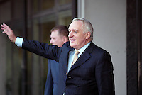 14/9/'07 .Taoiseach Bertie Ahern arriving at the Mahon Tribunal in Dublin today. .PIC COLLINS PHOTOS