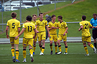 Action from the ISPS Handa Premiership football preseason match between Team Wellington and Wellington Phoenix Reserves at Fraser Park in Lower Hutt, New Zealand on Saturday, 31 October 2020. Photo: Dave Lintott / lintottphoto.co.nz