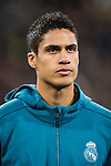 Raphael Varane of Real Madrid prior to the UEFA Champions League 2017-18 Round of 16 (1st leg) match between Real Madrid vs Paris Saint Germain at Estadio Santiago Bernabeu on February 14 2018 in Madrid, Spain. Photo by Diego Souto / Power Sport Images