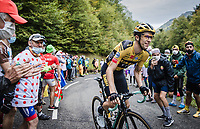 George Bennett (NZL/Jumbo-Visma) up the Col de Marie Blanque<br /> <br /> Stage 9 from Pau to Laruns 153km<br /> 107th Tour de France 2020 (2.UWT)<br /> (the 'postponed edition' held in september)<br /> ©kramon