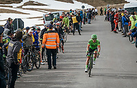 Tom-Jelte Slagter (NED/Cannondale-Drapac) just coming over the Umbrailpass (Alt: 2502m)<br /> <br /> Stage 16: Rovett › Bormio (222km)<br /> 100th Giro d'Italia 2017