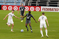 ST PAUL, MN - NOVEMBER 4: Kevin Molino #7 of Minnesota United FC moves the ball during a game between Chicago Fire and Minnesota United FC at Allianz Field on November 4, 2020 in St Paul, Minnesota.