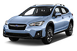 2018 Subaru XV Premium 5 Door SUV angular front stock photos of front three quarter view