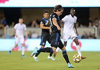 SAN JOSE, CA - AUGUST 31: Carlos Fierro of the San Jose Earthquakes during a Major League Soccer (MLS) match between the San Jose Earthquakes and the Orlando City SC  on August 31, 2019 at Avaya Stadium in San Jose, California.