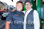 Enjoying the evening outside the Sportsman bar in Killarney on Saturday, l to r: Jason O'Sullivan and Noel Keane from Killarney.