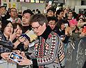Actor Eddie Redmayne arrives in Japan