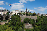 Grand Duchy of Luxembourg, Luxembourg: Old Town and Cathedral Notre Dame from Pont Adolphe