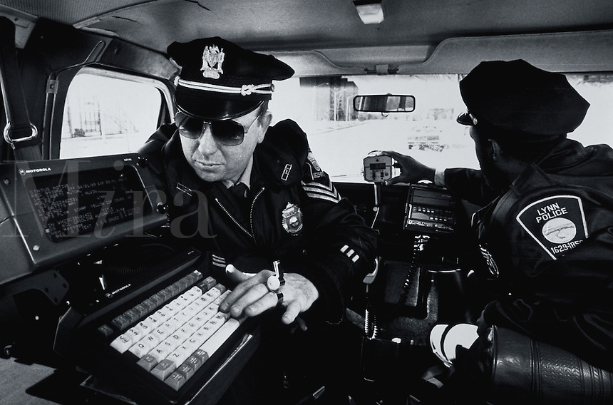 Police use computer technology to check motorist information