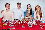 Enjoying the evening in Cassidys on Saturday, l to r: Shane Moore, Sean Kerins, Anita Tobin and Courtney Griffin