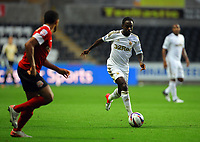 Pictured: Nathan Dyer of Swansea. Tuesday 28 August 2012<br /> Re: Capital One Cup game, Swansea City FC v Barnsley at the Liberty Stadium, south Wales.