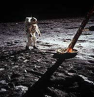 Apollo 11 et les premiere hommes sur la lune, Juillet 1969<br /> <br /> Photo : NASA via AQP