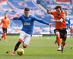 21.02.2021 Rangers v Dundee Utd: Ianis Hagi and Jamie Robson