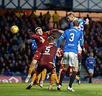 11.11.2018 Rangers v Motherwell: Eros Grezda heads in goal no 7 for Rangers