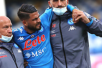 Lorenzo Insigne of SSC Napoli injured leaves the pitch during the Serie A football match between SSC Napoli and Genoa CFC at San Paolo stadium in Napoli (Italy), September 27th, 2020. Photo Cesare Purini / Insidefoto