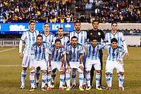 Argentina starting XI. Argentina and Ecuador played to a 0-0 tie during an international friendly at MetLife Stadium in East Rutherford, NJ, on November 15, 2013.