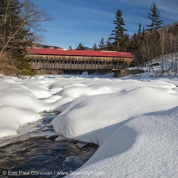This is the image for December in the 2016 White Mountains New Hampshire calendar. Albany Covered Bridge which crosses the Swift River in Albany, New Hampshire USA. The calendar can be purchased here: http://bit.ly/17LpoRV
