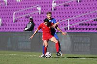 Orlando, Florida - Monday January 15, 2018: Justin Fiddes and Alan Winn. Match Day 2 of the 2018 adidas MLS Player Combine was held Orlando City Stadium.