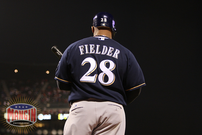 SAN FRANCISCO - JULY 18:  Prince Fielder of the Milwaukee Brewers waits in the on deck circle during the game against the San Francisco Giants at AT&T Park in San Francisco, California on July 18, 2008.  The Brewers defeated the Giants 9-1.  Photo by Brad Mangin