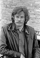 Jean Ferrat, vers 1980<br /> <br /> Photographe : Jacques Thibault<br /> <br /> - Agence Quebec Presse