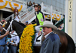 09 May 15: Payton d'Oro, Terry Thompson and Larry Jones after winning the grade 2 Black-Eyed Susan Stakes at Pimlico Race Track in Baltimore, Maryland.