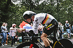 German Champion Tony Martin (GER) Jumbo-Visma in action during Stage 5 of the 2021 Tour de France, an individual time trial running 27.2km from Change to Laval, France. 30th June 2021.  <br /> Picture: A.S.O./Pauline Ballet | Cyclefile<br /> <br /> All photos usage must carry mandatory copyright credit (© Cyclefile | A.S.O./Pauline Ballet)