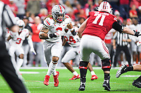 Indianapolis, IN - DEC 7, 2019: Ohio State Buckeyes defensive end Chase Young (2) in pursuit during Big Ten Championship game between Wisconsin and Ohio State at Lucas Oil Stadium in Indianapolis, IN. Ohio State came back from a 21-7 deficit at halftime to beat Wisconsin 34-21 to win its third straight Big Ten Championship. (Photo by Phillip Peters/Media Images International)