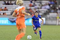 Houston, TX - Sunday Sept. 25, 2016: Nahomi Kawasumi during a regular season National Women's Soccer League (NWSL) match between the Houston Dash and the Seattle Reign FC at BBVA Compass Stadium.
