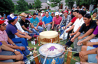 Drummers at Cherokee celebration. Tahlequah, OK