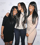 """Khadijaq Haqq,Lauren London and Malika Haqq at The Fragrance Launch event for """"Unbreakable by Khloe + Lamar"""" held at The Redbury Hotel in Hollywood, California on April 04,2011                                                                               © 2010 Hollywood Press Agency"""