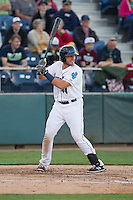 Adam Martin (44) of the Everett Aquasox at bat during a game against the Vancouver Canadians at Everett Memorial Stadium in Everett, Washington on July 16, 2015.  Vancouver defeated Everett 5-4. (Ronnie Allen/Four Seam Images)