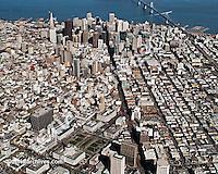 aerial photograph Market Street San Francisco skyline, California