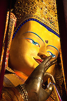 A 26 meter tall statue in Tahsillunpo monastary (Tibet) is the worl'd largest depiction of teh Jampa, the Future Buddha