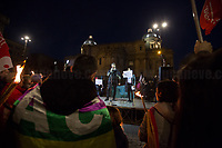 """(From L to R) Syrian and Iranian citizens.<br /> <br /> Rome, 25/01/2020. Today, Rete della Pace – supported by numerous organizations, including CGIL, ANPI and Libera – held a demonstration for Peace in Piazza dell'Esquilino called """"Spegniamo La Guerra, Accendiamo La Pace"""" (Let's turn off the war, let's turn on Peace, 1.).<br /> <br /> Footnotes & Links:<br /> 1. http://bit.do/fqxs9"""