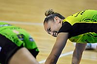 Whitney Souness of the Pulse warm up before the ANZ Premiership Netball - Pulse v Magic at TSB Bank Arena, Wellington, New Zealand on Sunday 30 May 2021.<br /> Photo by Masanori Udagawa. <br /> www.photowellington.photoshelter.com