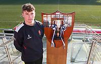 Monday 27th January 2020 | Ulster Schools' Cup Draw<br /> <br /> Wallace High School captain Reuben Crothers at the draw for the Ulster Schools' Cup Quarter Finals held at Kingspan Stadium, Ravenhill Park, Belfast, Northern Ireland. Fixtures to be played on or before 8 Feb 2020.  Photo credit - John Dickson DICKSONDIGITAL