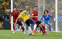 Neymar Shows close ball control in the Mexican Penalty Area
