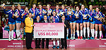 Team Serbia pose for photo with guests during the prize presentation of FIVB Volleyball World Grand Prix - Hong Kong 2017 on 23 July 2017, in Hong Kong, China. Photo by Yu Chun Christopher Wong / Power Sport Images
