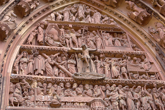 Strasburg - France - Cathederal front and sculptures