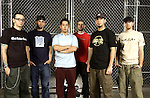 """Band and individual photos of Linkin Park.   The band is touring on the """"Projekt Revolution"""" tour."""