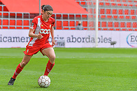 Noemie Gelders (10) of Standard pictured during a female soccer game between Standard Femina de Liege and AA Gent Ladies on the 6th matchday in play off 1 of the 2020 - 2021 season of Belgian Scooore Womens Super League , tuesday 11 th of May 2021  in Liege , Belgium . PHOTO SPORTPIX.BE   SPP   STIJN AUDOOREN