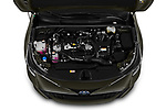 Car stock 2019 Toyota Corolla Style 5 Door Hatchback engine high angle detail view